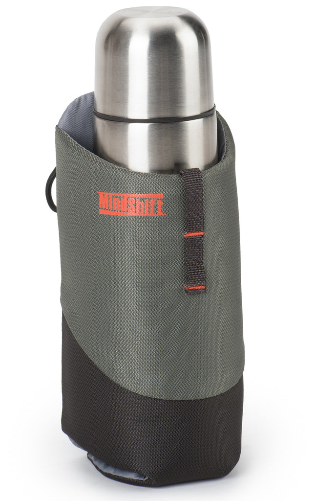 "Fits hot or cold beverages in 12oz and 16oz cans or standard car thermos with 2.8"" (7 cm) diameter"