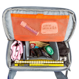 Rotating beltpack for accessing hiking essentials