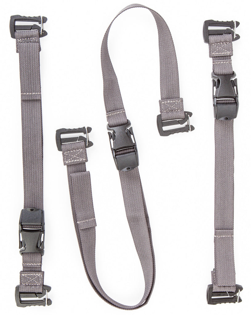 "Kit includes two 16"" adjustable straps and one 39"" adjustable strap"