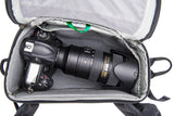 Gripped DSLR with 70-200mm F2.8 lens attached