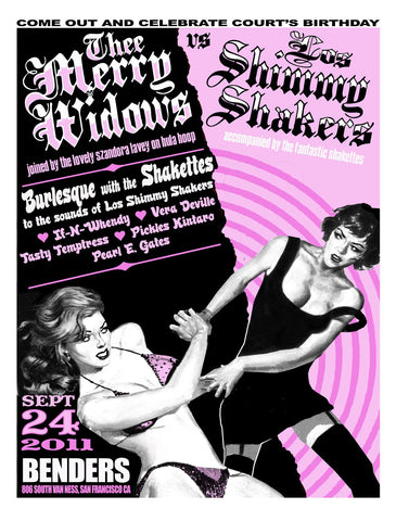Thee Merry Widows & Los Shimmy Shakers Poster PSTR-LM021