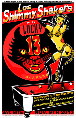 Los Shimmy Shakers at Lucky 13 Nov PSTR-LM026