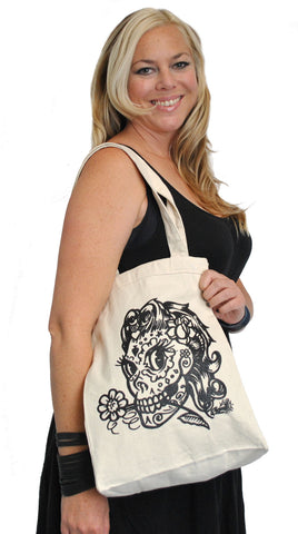 Girly Deadgirl Tote Bag  B-240