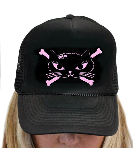 Kitty Bones Trucker Hat T-199