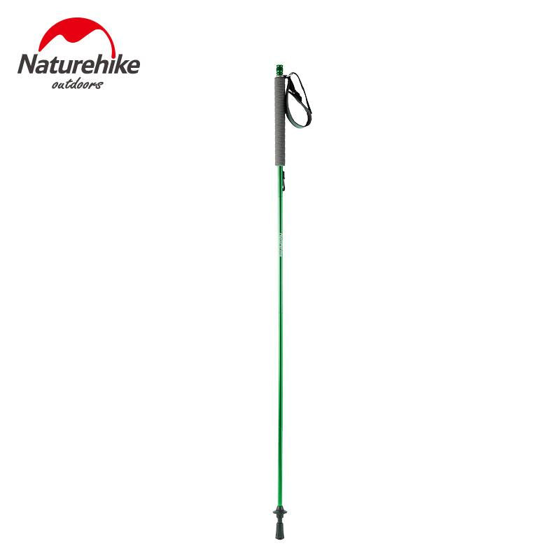 Naturehike 130CM Handle Self Adjustable Folding 4 Section Walking Trekking Stick