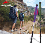 Naturehike Ultralight Adjustable 1PCS Alpenstock Carbon Fiber Hiking Trekking Walking Stick
