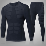 FANNAI Men Compression Jogging Hiking T-Shirt and Pants Set