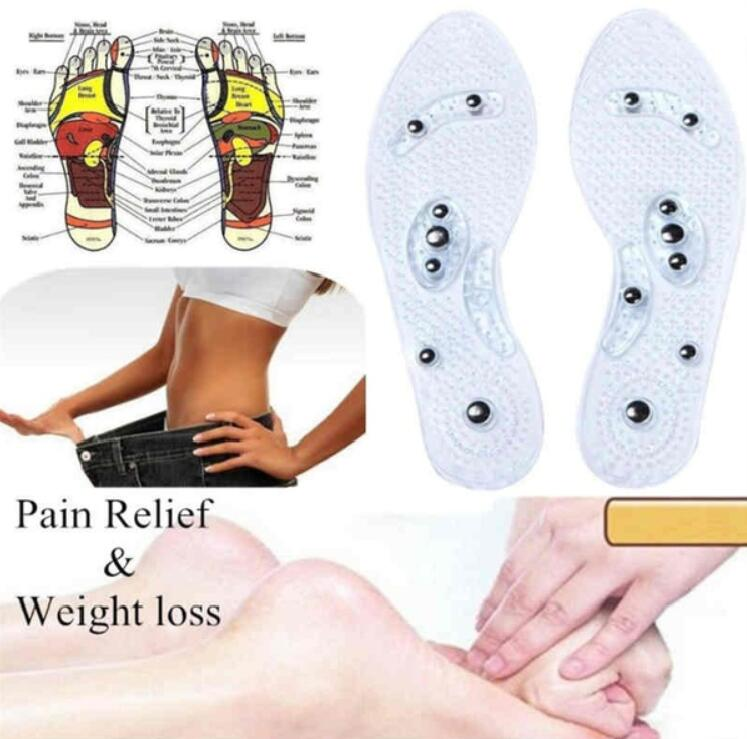 Comfort Pad Relaxation Foot Care Shoe Gel Insoles Feet Magnetic Therapy for Men