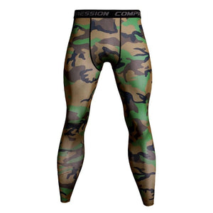 Men's Camo Compression Jogging, Hiking, Fitness Wear Leggings