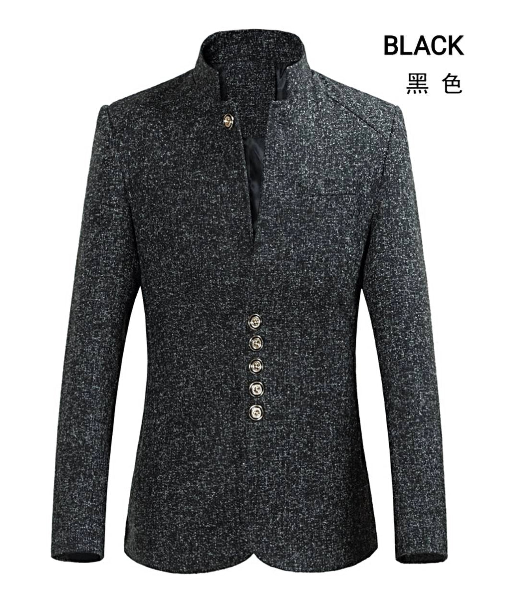 Asia size men young looking stand collar suit / coat.