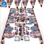 Dreambound Travel Coco Party,  Birthday Party Decoration Tableware Paper Banner/Cups/Plate/Napkin