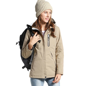 Men & Women Winter USB Infrared Heating Windproof Windbreaker Cotton Jacket  Fleece Coat