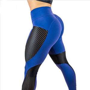 Women Elastic Sexy Yoga Leggings Stitching Fitness Push Up Leggings Pants
