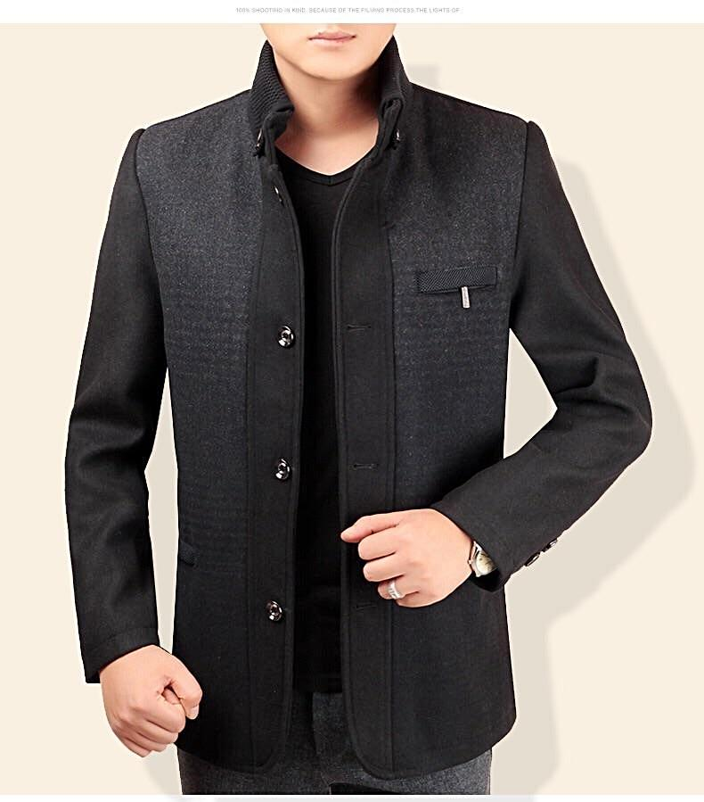 Asia size men stand collar suit / coat.
