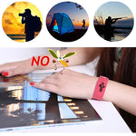 Anti Mosquito Bug Repellent Wrist Band Outdoor Camping, Hiking, Mountaineering Activities