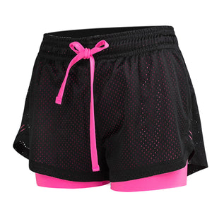 Women double layer quick dry, breathable, fast drying jogging, hiking, yoga, fitness short.