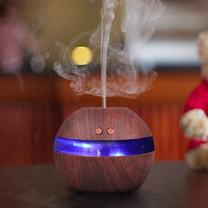 Ultrasonic Humidifier Blue LED Aroma Fragrance Diffuser Machine Nebulizer