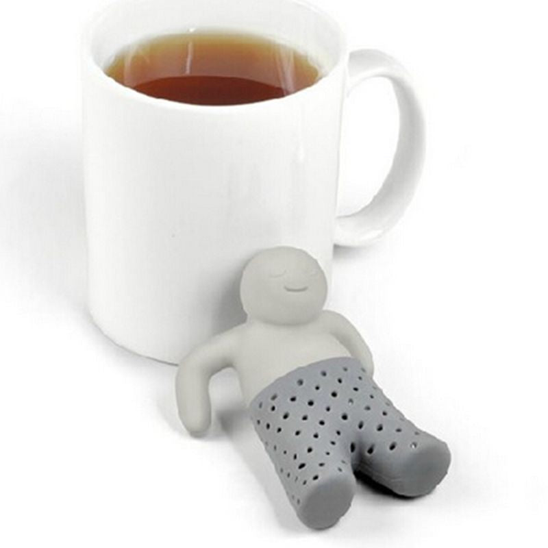 Cute MR Little Man Silicone Infuser Filter Strainer Teapot