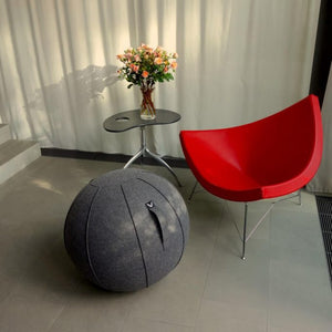 Image of a Vivora Luno sitting ball in an office sitting area.