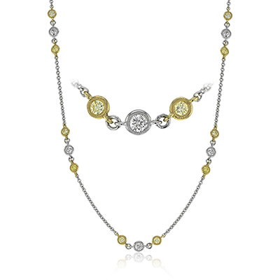 CH106 NECKLACE 18k Gold Yellow & White