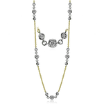 CH112-Y NECKLACE 18k Gold White