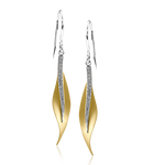 DE117-Y EARRING 18k Gold White