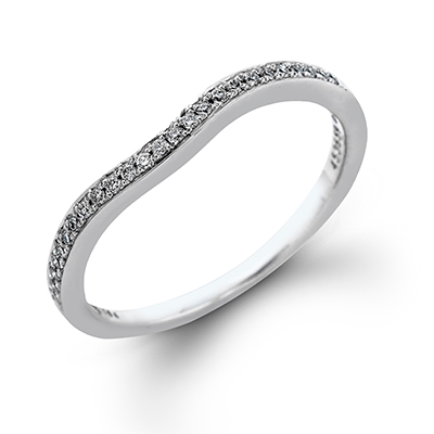 DR167 ENGAGEMENT RING Platinum White Band