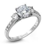DR231-D ENGAGEMENT RING Platinum White Semi