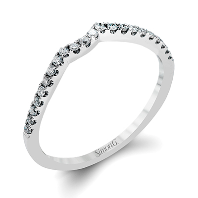 DR234-D ENGAGEMENT RING Platinum White Band