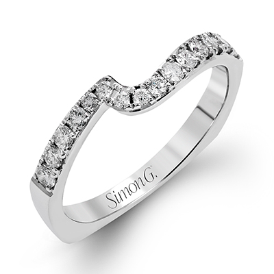 DR237 ENGAGEMENT RING Platinum White Band