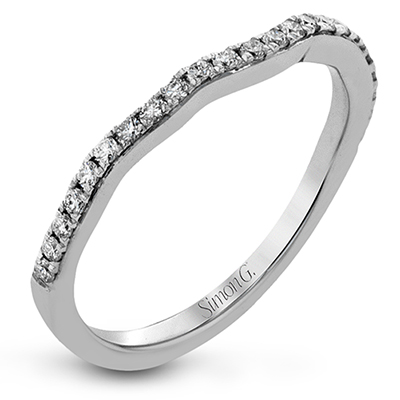 DR349 ENGAGEMENT RING Platinum White Band
