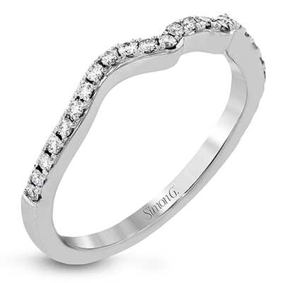 DR351 ENGAGEMENT RING Platinum White Band