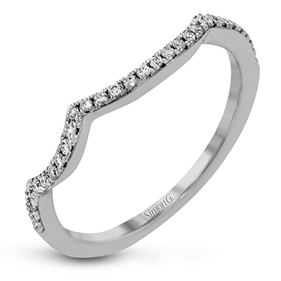 DR353 ENGAGEMENT RING Platinum White Band