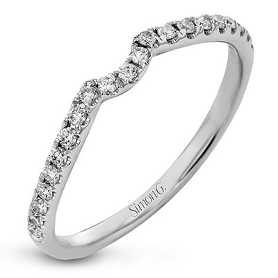GR204 ENGAGEMENT RING Platinum White Band