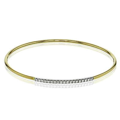 LB2017-Y BANGLE 18k Gold White