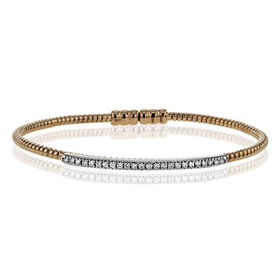 LB2151-R BANGLE 18k Gold White