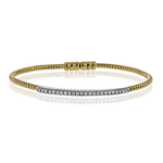 LB2151-Y BANGLE 18k Gold White