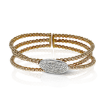 LB2153-R BANGLE 18k Gold White