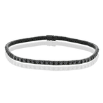 LB2171 GENT BRACELET 18k Gold White & black