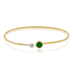 LB2179-Y BANGLE 18k Gold White