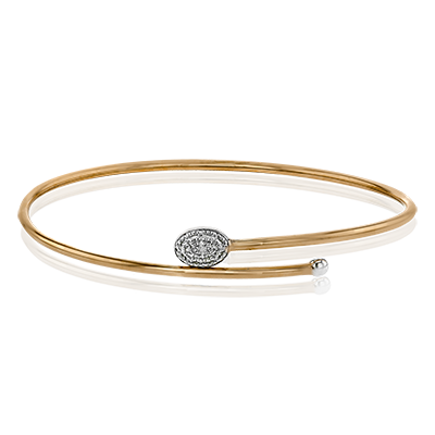 LB2188-R BANGLE 18k Gold White