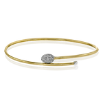 LB2188-Y BANGLE 18k Gold White