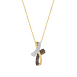 14K Two Tone Gold Pendant