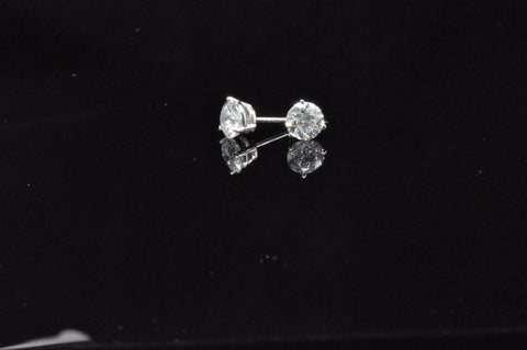 DIAMOND STUDS 1.00 CTW 14KW STAR LIGHT