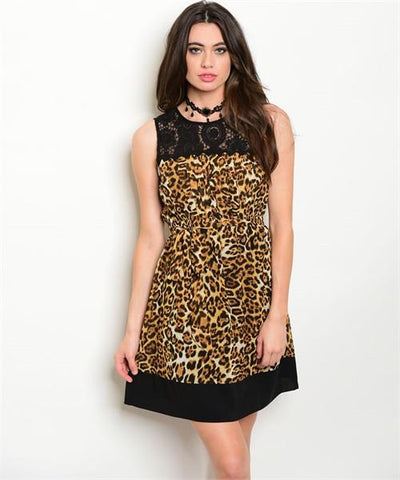 Women's Cocktail  Animal Leopard Print Party Dress