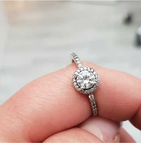Sterling Silver CZ Pandora Style Ring
