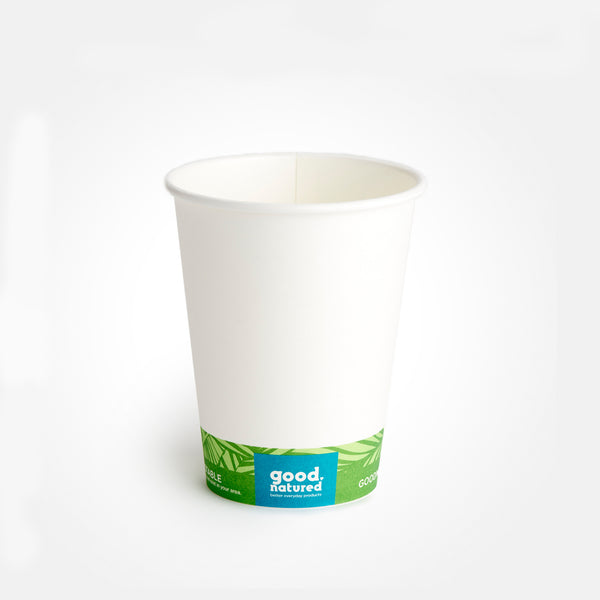 8 oz. Compostable Hot Cup, Lid, & Sleeve