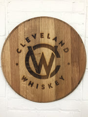Etched Logo Bourbon Barrel Head