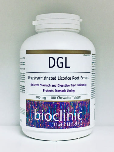 DGL  -Deglycyrrhizinated Licorice Root Extract (180 Chewable Tablets)
