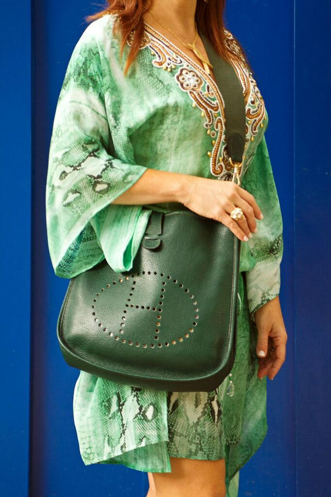 The vintage contessa green hermes birkin bag